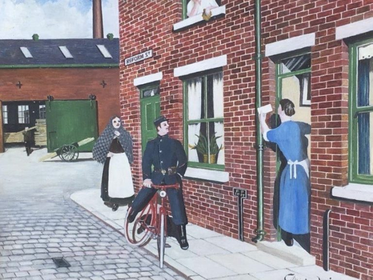 From Our Fred And Cissie in Cleckheaton A Little Girl Late On Sunday Night - George Mainwaring – Rochdale Artist