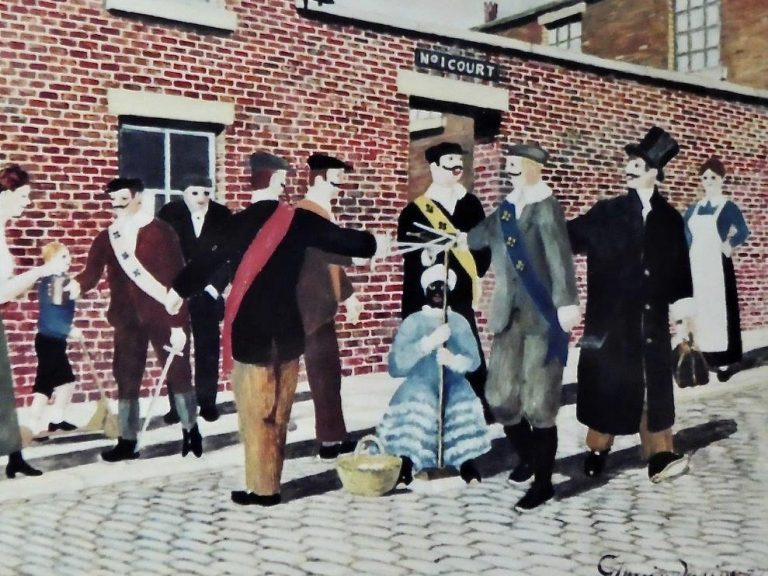 Owd Toss Pot You See Wi A Bunch O Blue Riband Tied Under His Knee - George Mainwaring – Rochdale Artist