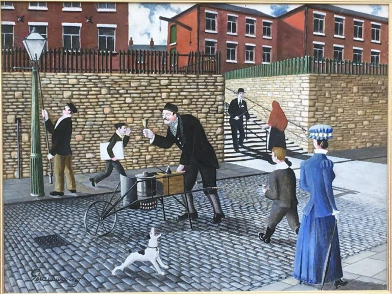 Bill Fox The Black Pea Man (1) - George Mainwaring – Rochdale Artist