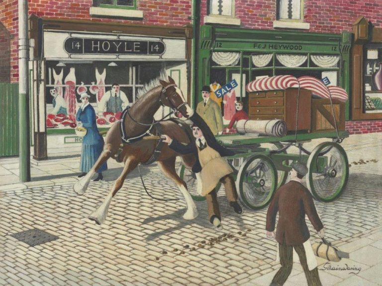 St Marys Gate Incident in 1923 - George Mainwaring – Rochdale Artist