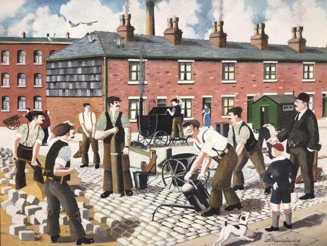Street Paving Gang - George Mainwaring – Rochdale Artist